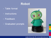 Project: Can a  table robot help a child solve tasks in class?
